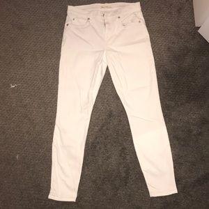 Gap True Skinny White Jeans
